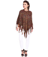 Fashion Womens solid Red Shrug wool Rodeo Weaves poncho Capes Free Size - $30.00
