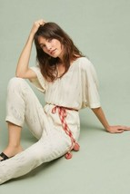 New Anthropologie Soleil Belted Jumpsuit by Feather Bone Retail $138 SMA... - $59.40