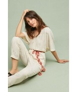 New Anthropologie Soleil Belted Jumpsuit by Feather Bone Retail$138 SMA... - $59.40