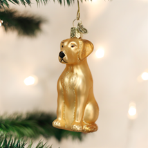 Old World Christmas Yellow Labrador Retriever Yellow Lab Xmas Ornament 12386 - $9.88