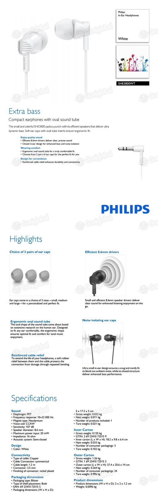 Philips she3800wt