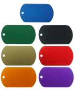 10-Pack Aluminum Color Dog Tags Wholesale Military GI ID Dogtags - $9.99