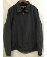 Keneth Cole Reaction Males Xxl Jacket Coat Black Zipper - $9.89