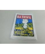 ORIGINAL VINTAGE TRAVEL WINDOW DECAL YELLOWSTONE NATIONAL PARK OLD FAITH... - $19.99