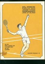 An item in the Sports Mem, Cards & Fan Shop category: 69th CALIFORNIA JUNIOR TENNIS CHAMPIONSHIP PROGRAM 1969 VG