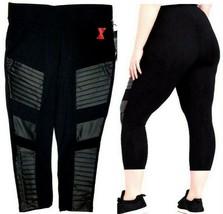 Her Universe Marvel BLACK WIDOW Plus Size Women Crop Moto Leggings (Size... - $29.69