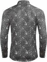 COOFANDY Men's Button Down Long Sleeve Slim Fit Casual Paisley Dress Shirt - 2XL image 4