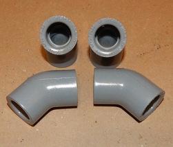 "1/2"" Gray PVC Schedule 80 Spears 45 Degree Elbows Slip X Slip 4ea F439 U... - $7.49"