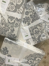 Pottery Barn Lucianna Duvet Cover Gray King Floral Medallion No Shams New - $129.00