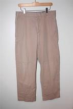 M3323 Mens Banana Republic Tan Khaki Straight Leg Cotton Slacks Pants 33x32 - $14.50