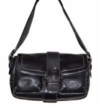Coach Black Women's Shoulder Bag Purse Clutch Small Leather AUTHENTIC P/O - $69.29