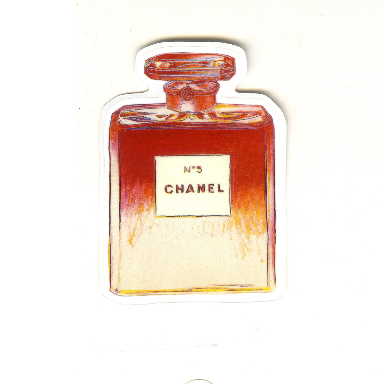 "Used, #1554 Chanel No 5 Perfume Cartoon 8cm 3"" Decal Sticker for luggage car bag phone for sale  USA"