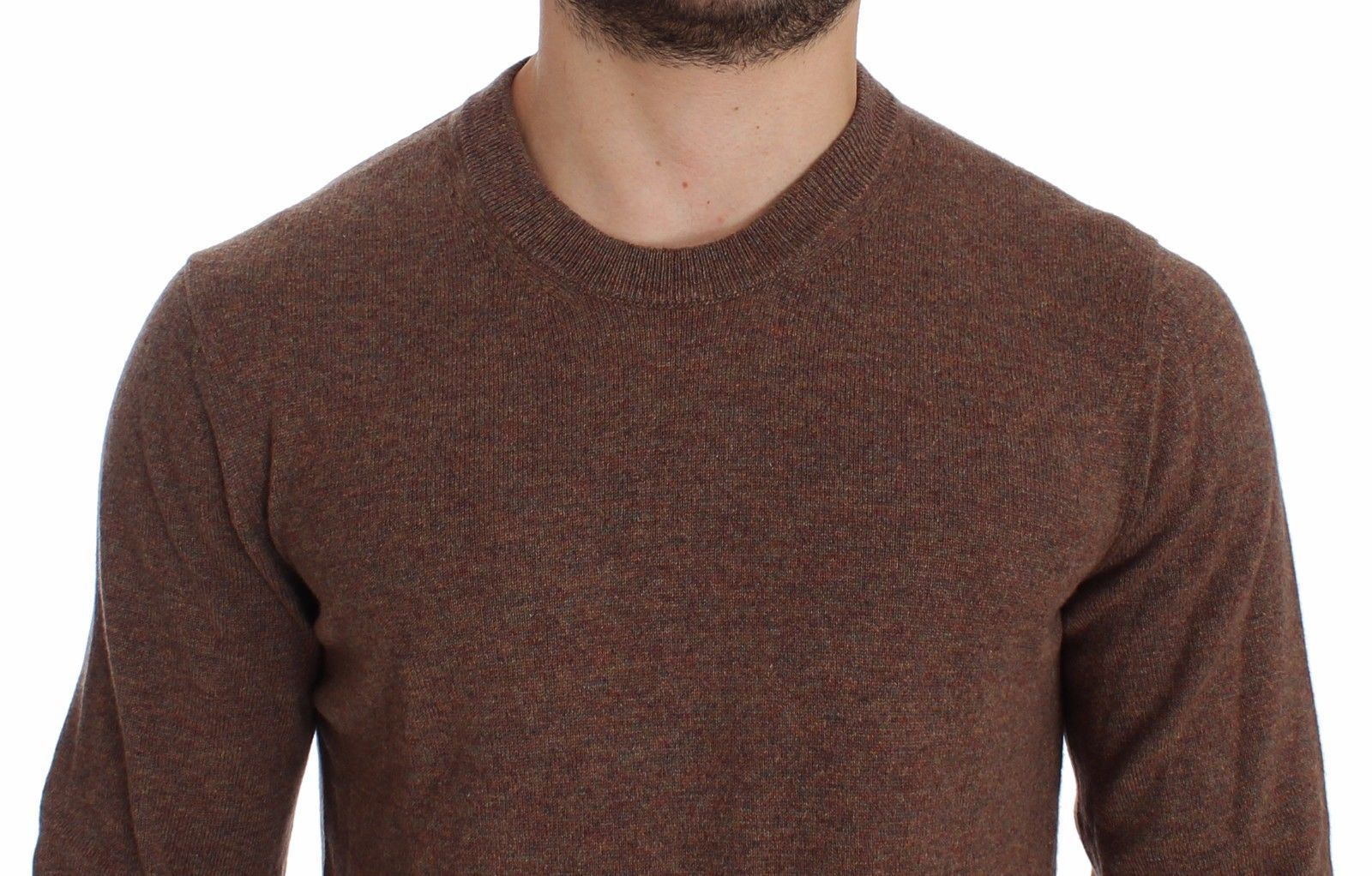 Dolce & Gabbana Brown Cashmere Crew-neck Sweater Pullover Top 14816