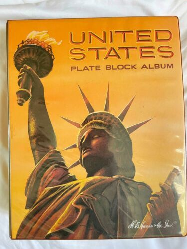 MNH 1938-1984 US Plate Block Collection Stamp Album Harris United States USA