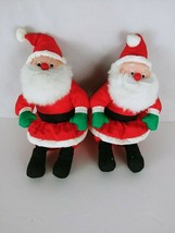 2 vintage Christmas Plush Santa Claus International Silver Co - $8.58