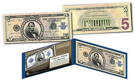 Lincoln Porthole 1923 $5 Silver Certificate Banknote design on Modern $5... - $24.70
