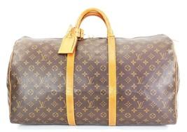 Authentic LOUIS VUITTON Keepall 55 Monogram Canvas Duffel Bag #33070 - $465.00