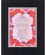 Handmade Inspirational Plaque for Love -  The Size of Your Heart... Poem - $17.77