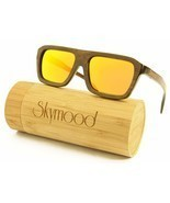 SKYMOOD Wood Sunglasses Men,wood sunglasses polarized with Bamboo Box - $39.03