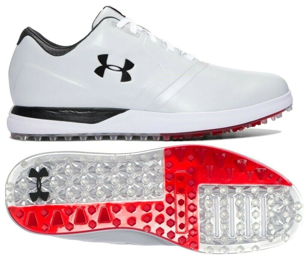 UNDER ARMOUR UA PERFORMANCE SPIKELESS GOLF SHOES SIZE 11.5 NEW W/BOX(129177-101)