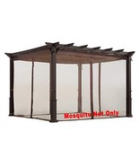 ALISUN Mosquito Net for Flat-Roof Pergola - Mesh Bug Net Only 10 ft. x 1... - $127.74