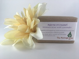 Leaves of Hope Moringa Soap with Lavender - Handmade, Natural Ingredients - $6.95