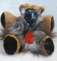 Charlie Teddy Bear Rat Hairy Horror Pet Handmade Freaky Creepy Night Cre... - $39.99
