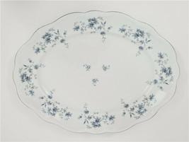 "Johann Haviland Blue Garland Oval Platter 14"" Bavaria Germany - $39.50"