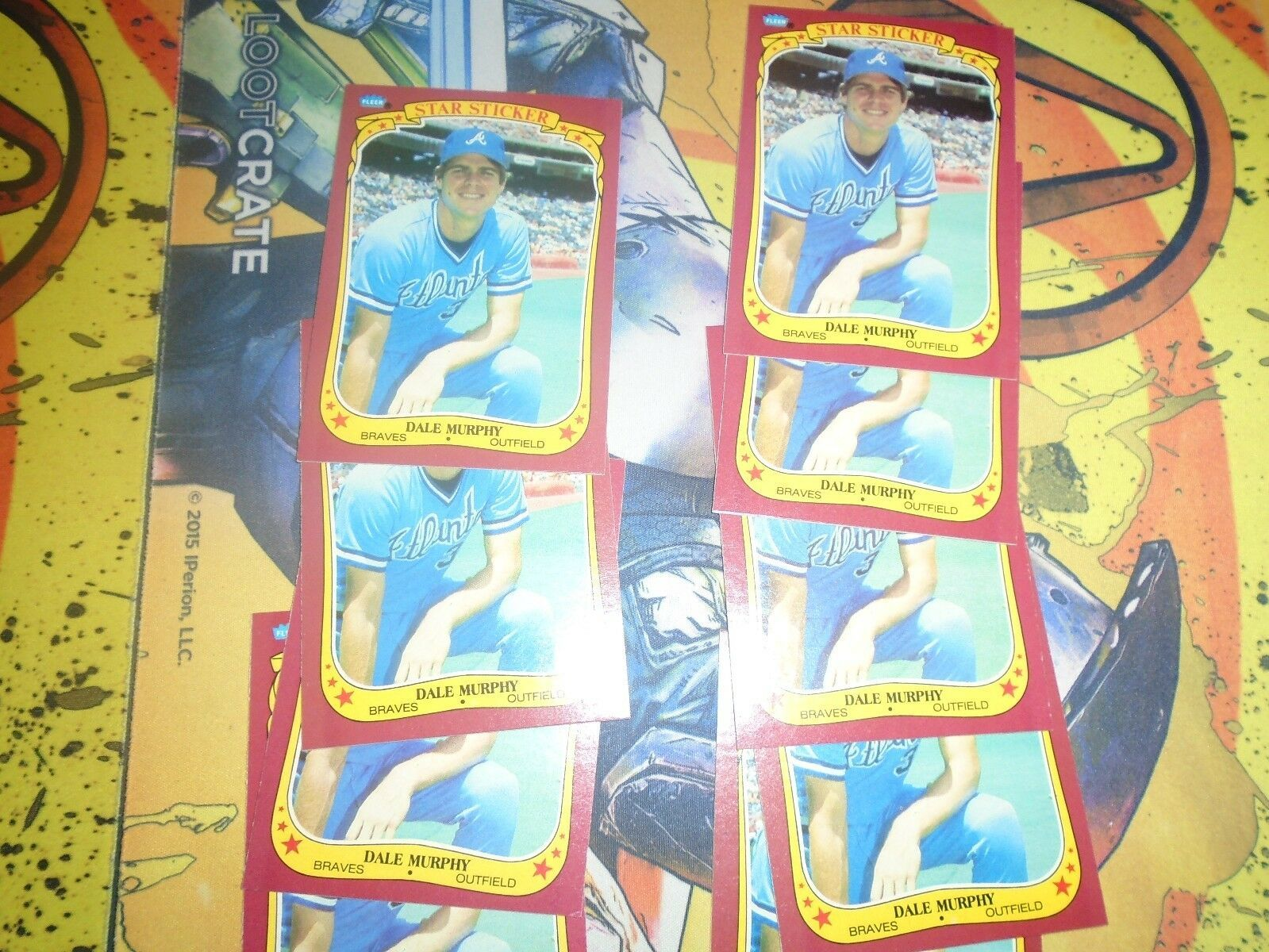 1986 Fleer Star Stickers Dale Murphy #80 Braves Lot of 9