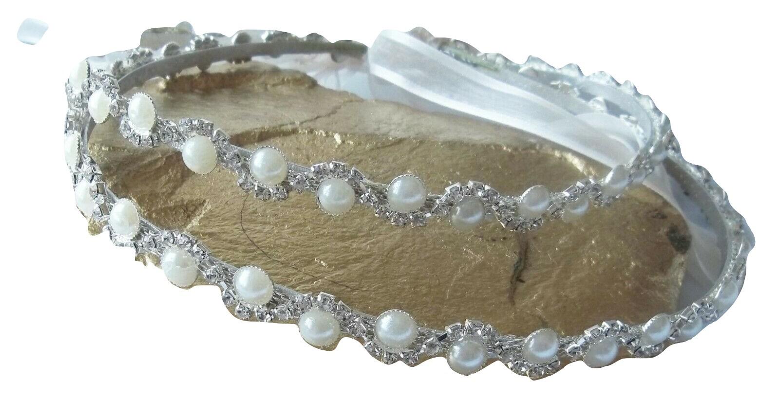 STEFANA Greek crowns Handmade White or Ivory Orthodox Wedding  Crowns  Stephana  Tiaras