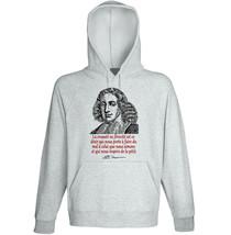 Baruch Spinoza La Cruauté - NEW COTTON GREY HOODIE - $31.88