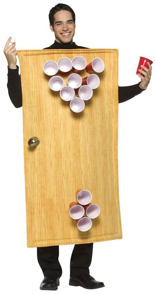 Beer Pong Costume Adult Alcohol Men Women Halloween Party Unique GC6028