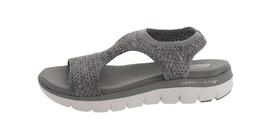 Skechers Knit Cutout Sport Sandals Deja Vu Grey 7M NEW A349857 - $46.51