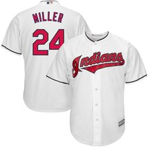 Men's Cleveland Indians Andrew Miller White Polyester Cool Base Player J... - $1.035,20 MXN
