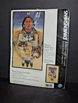 Dimensions Native Wolf Trio Counted Cross Stitch 35050 New Sealed 2001 (x) - $24.74