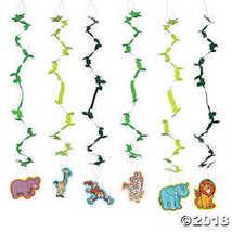 Fun Express Zoo Adventure Hanging Swirls - 12 Pieces - $8.36