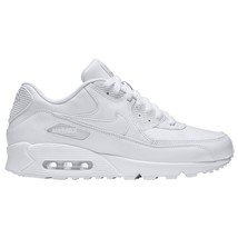 Nike Air Max 90 Leather Triple White 302519-113 Mens Running Shoes Size 12 - $89.95