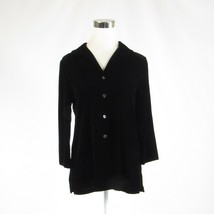 Black TALBOTS 3/4 sleeve button down blouse 6P - $19.99