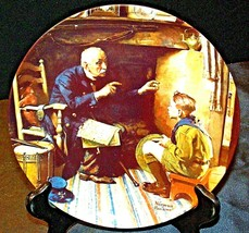 1988 The Veteran by Norman Rockwell Plate with Box ( Knowles ) AA20- CP2181 Vint