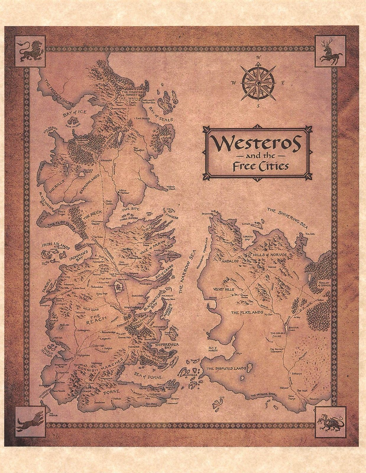 Game of thrones map of westeros and the free and 50 similar items gumiabroncs Images