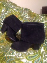 Vince Camuto Brass 7.5M Women's Black Suede Leather Ankle Boots Mrsp $240 Shoes - $79.19