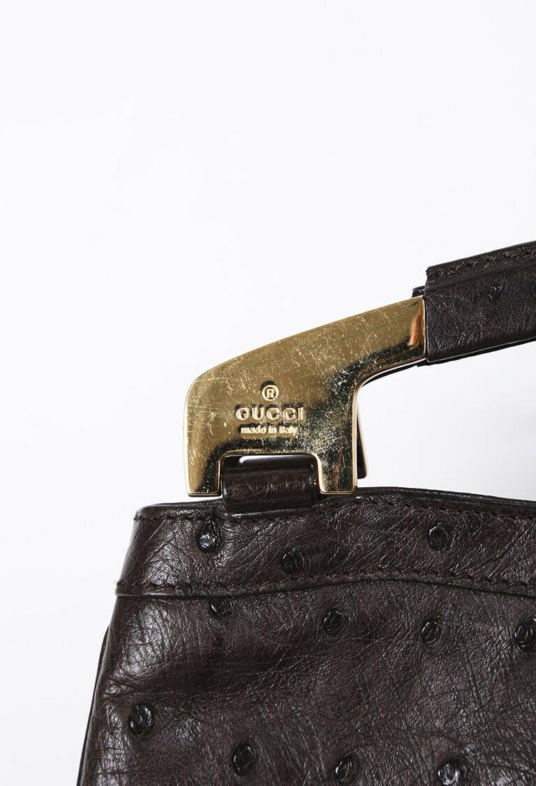 Gucci Ostrich Skin Handbag