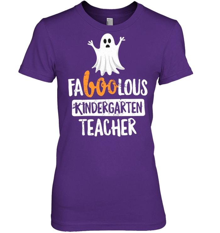 Faboolous Kindergarten Teacher Halloween Tshirt