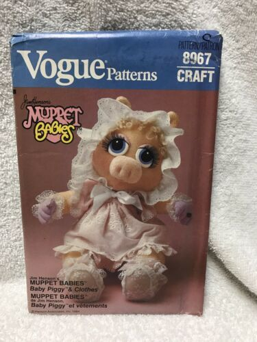 Vogue 8967 Muppet Babies Miss Piggy Doll And Clothes Sewing Pattern