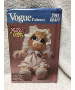 Vogue 8967 Muppet Babies Miss Piggy Doll And Clothes Sewing Pattern - $10.88