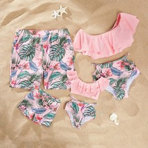 Pink Family Look Mother Daughter Baby Father Son Swimsuits Suit Summer M... - $19.30