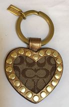 Coach Key Chain Signature C Heart with Bronze grommets! NWT - $34.99