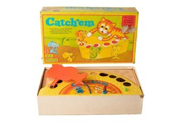 Vintage Mattel Catch'em Game #5445 1969 Cat & Mouse Very Rare  - $34.65