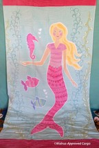 POTTERY BARN KIDS MERMAID BEACH TOWEL -NWT- THERE'S NOTHING FISHY ABOUT ... - $39.95