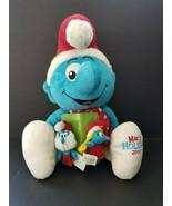 "Macy's Smurf JUMBO Plush 15"" And Papa Smurfette Finger Puppet Set  - $19.26"